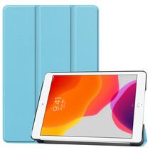 Hoesje voor iPad 10.2 inch 2019 / 2020 - Tri-Fold Book hoes Case - Licht Blauw