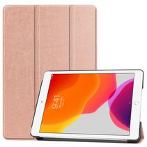 Hoesje voor iPad 10.2 inch 2019 / 2020 - Tri-Fold Book hoes Case - Rosé Goud