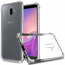 Samsung Galaxy J6 Plus hoes - Anti-Shock TPU Back Cover - Transparant