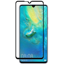 Huawei Mate 20 X - Full Cover Screenprotector - Gehard Glas - Zwart