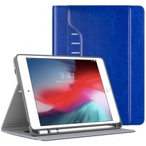 iPad 9.7 hoes - Draaibare Business Book Case - Donker Blauw