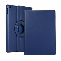 iPad 10.2 (2019) Hoes - Draaibare Book Case Cover - Donker Blauw