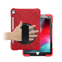 iPad 10.2 2019 / 2020 / 2021 hoes - Hand Strap Armor Case - Rood
