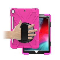 iPad 10.2 2019 / 2020 hoes - Hand Strap Armor Case - Magenta