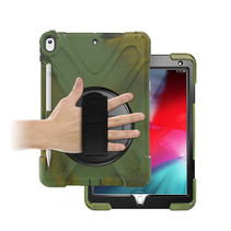iPad 10.2 2019 / 2020 / 2021 Cover - Hand Strap Armor Case - Camouflage