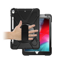 iPad 10.2 2019 / 2020 Cover - Hand Strap Armor Case - Zwart