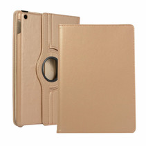 iPad 10.2 2019 / 2020 hoes - Draaibare Book Case Cover - Goud