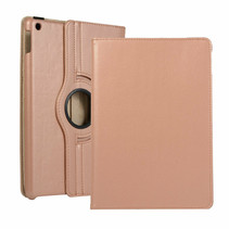 iPad 10.2 (2019) hoes - Draaibare Book Case Cover - Rosé-Goud