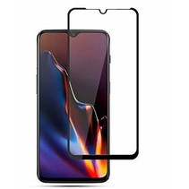 OnePlus 7T - Full Cover Screenprotector - Gehard Glas - Zwart
