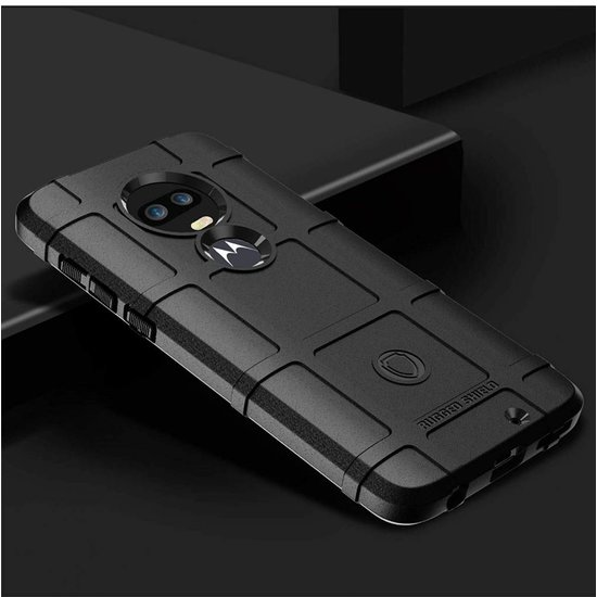 Case2go Motorola Moto G7 Plus hoes - Heavy Armor TPU Bumper - Zwart