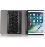 Case2go iPad 10.2 inch 2019 / 2020 Toetsenbord Hoes - Keyboard Case met Stylus Pen Houder -Zwart