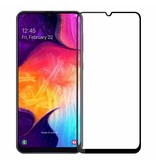 Case2go Samsung Galaxy A30s - Full Cover Screenprotector - Gehard Glas - Zwart