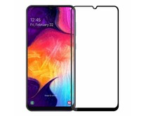 Samsung Galaxy A30s - Full Cover Screenprotector - Gehard Glas - Zwart