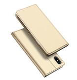 Dux Ducis iPhone XS hoesje - Dux Ducis Skin Pro Book Case - Goud