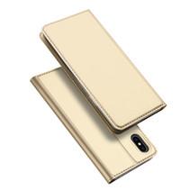 iPhone XS hoesje - Dux Ducis Skin Pro Book Case - Goud