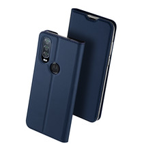 Motorola One Action hoesje - Dux Ducis Skin Pro Book Case - Blauw