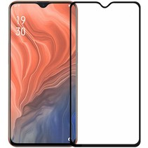 Oppo A5 (2020) - Full Cover Screenprotector - Gehard Glas - Zwart