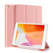 iPad 10.2 inch 2019 / 2020 / 2021 hoes - Dux Ducis Domo Book Case met Stylus pen houder - Roze