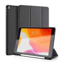 iPad 10.2 inch 2019 / 2020 / 2021 hoes - Dux Ducis Domo Book Case met Stylus pen houder - Zwart