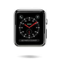 Dux Ducis - Apple Watch Series 1/2/3 hoesje - 38 mm Beschermende Cover - Zwart / Transparant (2-Pack)