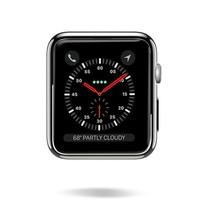 Dux Ducis - Hoesje Geschikt voor Apple Watch Series 1/2/3 - 42 MM -Stijlvolle Beschermende Cover - Zwart / Transparant (2-Pack)