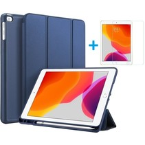 iPad 10.2 2019 / 2020 hoes - Dux Ducis Osom Tri-Fold Book Case Series + Screenprotector - Blauw