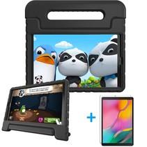 Samsung Galaxy Tab A 10.1 (2019) hoes - Schokbestendige case met handvat + Screenprotector - Zwart