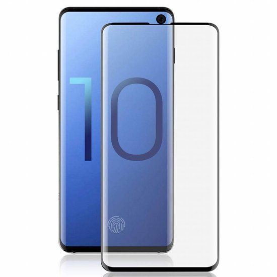 Glass Pro+ Samsung Galaxy S10 - Full Cover folie Screenprotector - Zwart