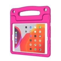 iPad Air 10.5 hoes - Schokbestendige case met handvat - Magenta