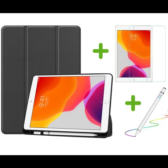 Case2go iPad 10.2 inch (2019) hoes - Active Stylus Pen - Screenprotector - Zwart