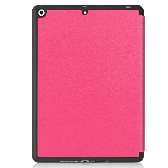 Case2go iPad 10.2 inch (2019) hoes - Active Stylus Pen - Screenprotector - Magenta