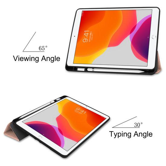 Case2go iPad 10.2 inch (2019) hoes - Active Stylus Pen - Screenprotector - Rosé Gold