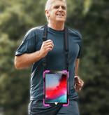 Case2go iPad Pro 10.5 (2017) Cover - Hand Strap Armor Case - Magenta