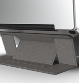 Case2go Laptop Standaard - Zelfklevend opvouwbare laptop standaard - Grijs