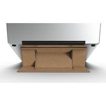 Macbook / Laptop Standaard - Zelfklevend opvouwbare laptop standaard - Bruin / Goud
