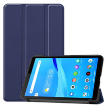 Lenovo Tab M7 hoes - Tri-Fold Book Case - Donker Blauw