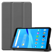 Lenovo Tab M7 hoes - Tri-Fold Book Case - Grijs