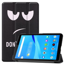 Lenovo Tab M7 hoes - Tri-Fold Book Case - Don't Touch Me
