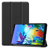 LG G Pad 5 10.1 hoes - Tri-Fold Book Case - Zwart