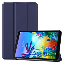 LG G Pad 5 10.1 hoes - Tri-Fold Book Case - Donker Blauw