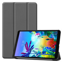 LG G Pad 5 10.1 hoes - Tri-Fold Book Case - Grijs