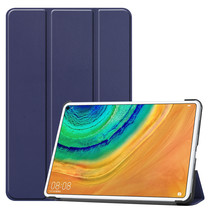 Huawei MatePad Pro 10.8 hoes - Tri-Fold Book Case - Donker Blauw