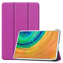 Huawei MatePad Pro 10.8 hoes - Tri-Fold Book Case - Paars