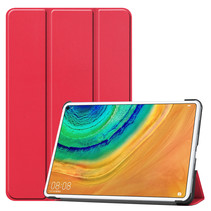 Huawei MatePad Pro 10.8 hoes - Tri-Fold Book Case - Rood