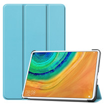 Huawei MatePad Pro 10.8 hoes - Tri-Fold Book Case - Licht Blauw
