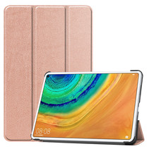 Huawei MatePad Pro 10.8 hoes - Tri-Fold Book Case - Rosé Goud