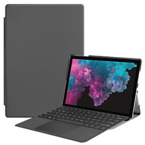 Microsoft Surface Pro 7 hoes - Tri-Fold Book Case - Grijs