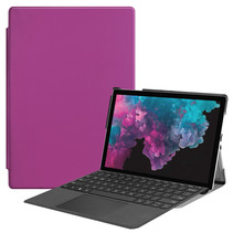Microsoft Surface Pro 7 hoes - Tri-Fold Book Case - Paars
