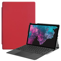 Microsoft Surface Pro 7 hoes - Tri-Fold Book Case - Rood