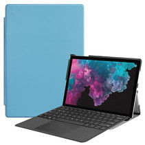 Microsoft Surface Pro 7 hoes - Tri-Fold Book Case - Licht Blauw